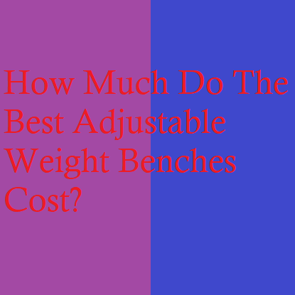 How Much Do The Best Adjustable Weight Benches Cost?