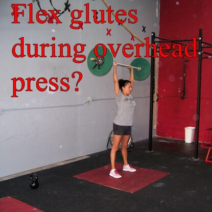 How Hard Do You Squeeze Your Glutes During Overhead Presses