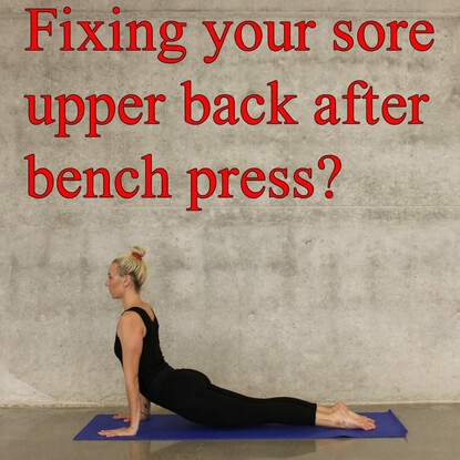 What To Do After Having A Sore Upper Back After Bench Press